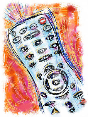 Pass The Remote Art Print by Russell Pierce