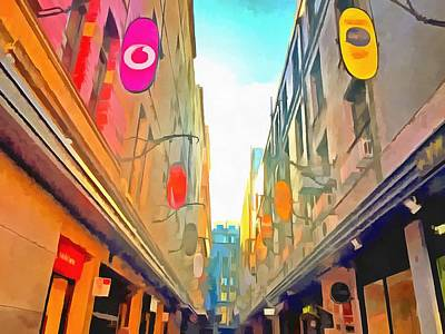 Photograph - Passage Between Colorful Buildings by Ashish Agarwal