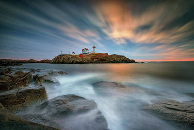 Photograph - Passage Of Time At Cape Neddick by Rick Berk