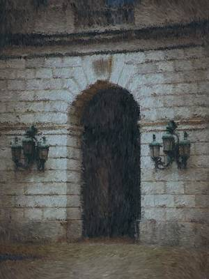 Medieval Entrance Digital Art - Passage To Darkness by A R Williams