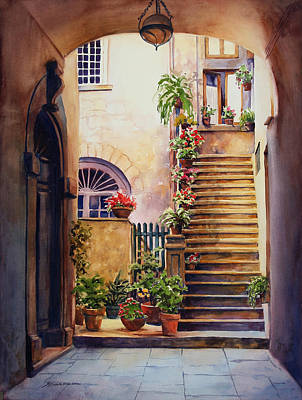 Historic Architecture Painting - Passages Back In Time by Sue Zimmermann