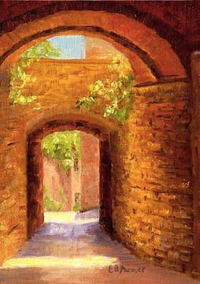 San Gimignano Painting - Passages, San Gimignano, Tuscany, Italy by Elaine Farmer