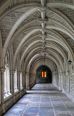 Photograph - Passageway At Princeton University by Dave Mills