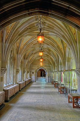 Photograph - Passageway In Sterling Memorial Library by Dave Mills