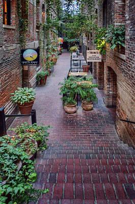 Photograph - Passageway - Old Market - Omaha by Nikolyn McDonald