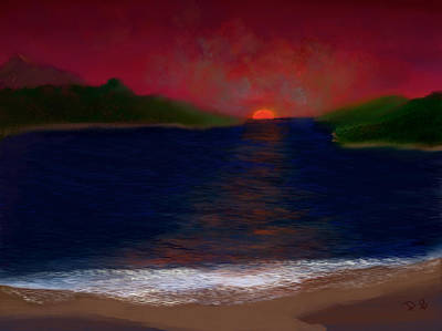 Digital Art - Passageway Sunset by Dick Bourgault