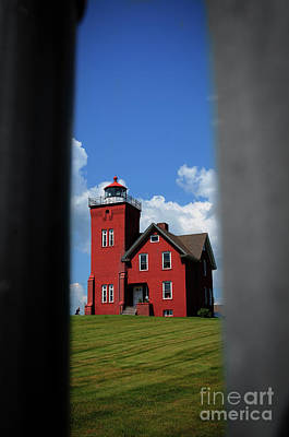 Photograph - Passageway To The Two Harbors Lighthouse by Deborah Klubertanz