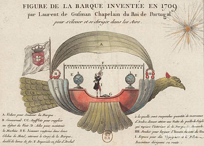 Photograph - Passarola Gartolomeu De Gusamao's Airship 1709 by Science Source