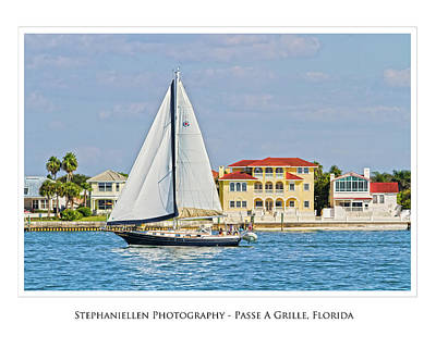 Passe A Grille Sailboat Art Print