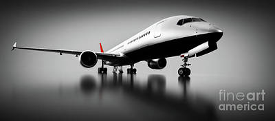 Photograph - Passenger Airplane In Studio Or Hangar. Aircraft, Airline by Michal Bednarek