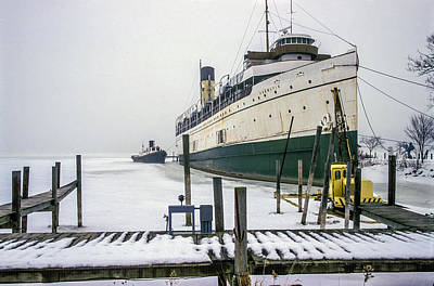 Photograph - Passenger Liner Ss Keewatin In Winter Dock by Randall Nyhof