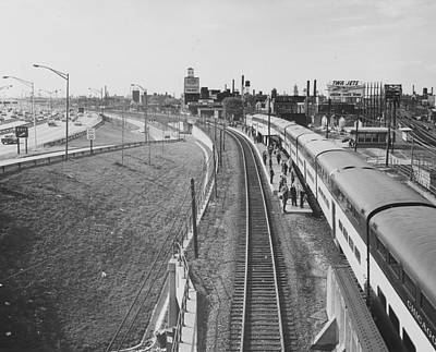 Photograph - Passenger Train In Clybourn Junction - 1962 by Chicago and North Western Historical Society