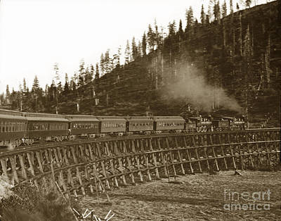 Photograph - Passenger Train Steam Locomotives No. 1761 -  by California Views Archives Mr Pat Hathaway Archives