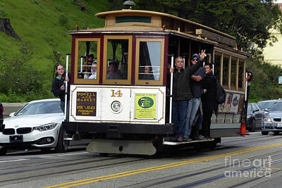 Photograph - Passenger Waves From A Cable Car by Steven Spak
