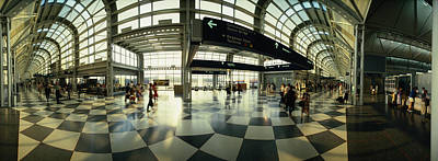 Interior Scene Photograph - Passengers At An Airport, Ohare by Panoramic Images