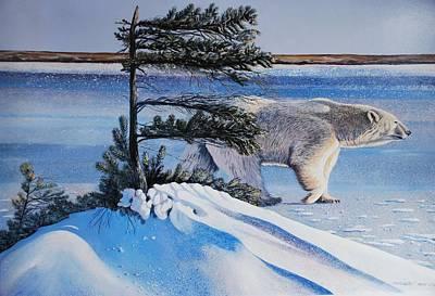 Passing By  Polar Bear Art Print