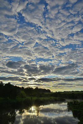 Photograph - Passing Clouds At Sunrise In Glacial Park by Ray Mathis
