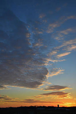 Photograph - Passing Clouds At Sunset Above Glacial Park by Ray Mathis