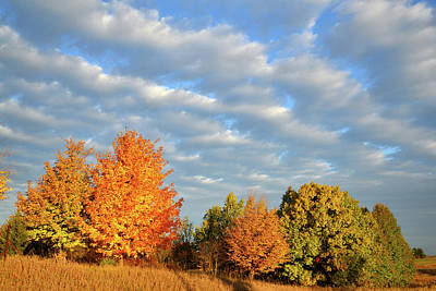 Photograph - Passing Clouds On A Fall Morning In Mchenry County by Ray Mathis