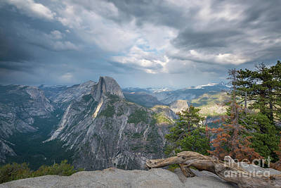 Photograph - Passing Clouds Over Half Dome by Michael Ver Sprill