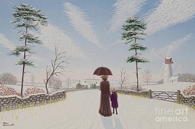 Women Together Painting - Passing Clouds by Peter Szumowski
