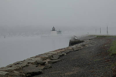 Art Print featuring the photograph Passing In The Fog by Jeff Folger