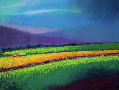 Pastel - Passing Rain by David Patterson