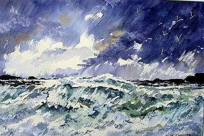 Passing Storm At The Blaskets  Art Print