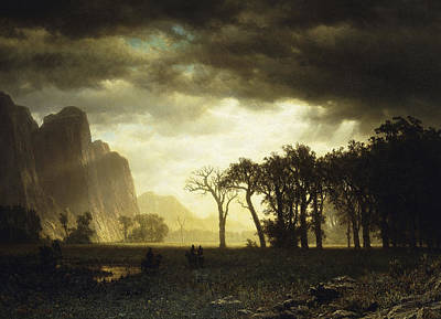 Storm Painting - Passing Storm In Yosemite by Albert