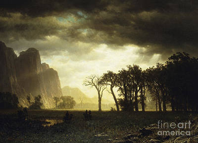 Yosemite Painting - Passing Storm In Yosemite by Celestial Images