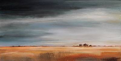 Moody Painting - Passing Storm by Karen Hale