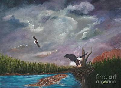 Passing Storm Art Print by Myrna Walsh