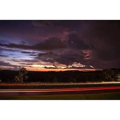 Landscapes Photograph - Passing Storm  #landscape #lighttrails by Andrew Nourse