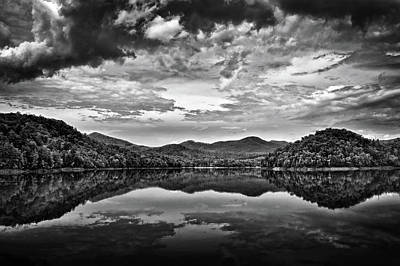 Photograph - Passing Storm Over Lake Hiwassee In Black And White by Greg Mimbs