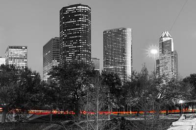 Photograph - Passing Through - Houston Texas - Selective Coloring by Gregory Ballos