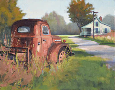 Country Dirt Roads Painting - Passing Through Red Oak by Todd Baxter