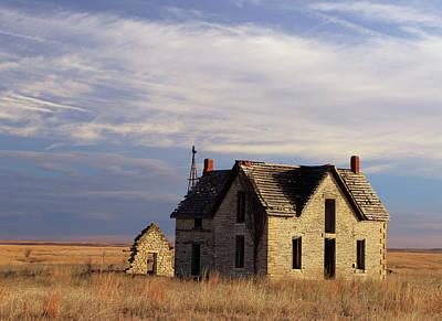 Flint Hills Of Kansas Photograph - Passing Time by Christopher McKenzie