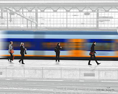 Photograph - Passing Train by Pedro L Gili