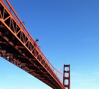 Photograph - Passing Under The Golden Gate Bridge by Janette Boyd and John Noyes