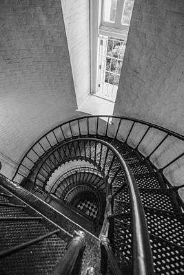 Spiral Staircase Photograph - Passing Window by Kristopher Schoenleber