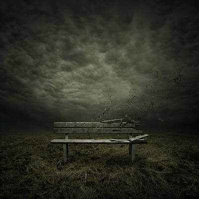 Benches Digital Art - Passing by Zoltan Toth