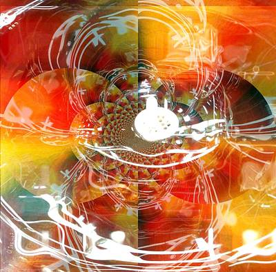 Yesayah Mixed Media - Passion And Free Spirit by Fania Simon