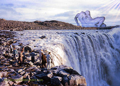 Digital Art - Passion At The Falls by Richard Goldman