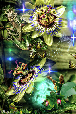 Mixed Media - Passion Flower Fairies by Bill Oliver