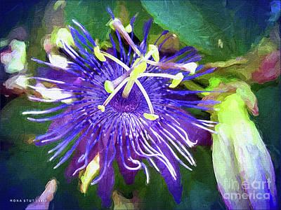 Passion Flower Art Print by Mona Stut