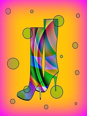 Foot Wear Digital Art - Passion For Fashion by Kathleen Sartoris
