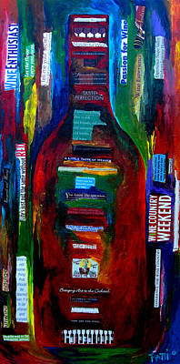 Wine-bottle Painting - Passion For Wine by Patti Schermerhorn