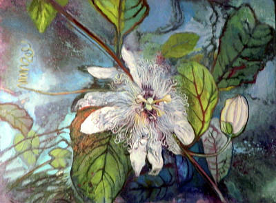 Painting - Passion Fruit Flower by Elaine Hines