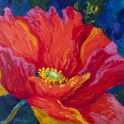 Red Poppy Painting - Passion II by Marion Rose