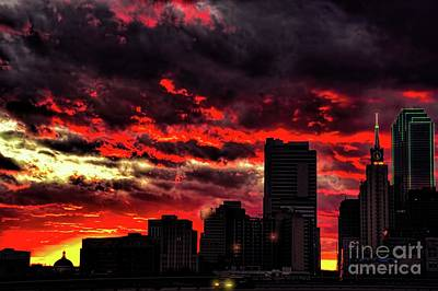 Photograph - Passion In A Sunset by Diana Mary Sharpton